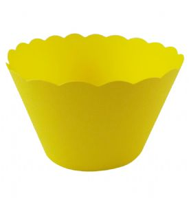 Yellow Cupcake Wrappers x 50 Per Pack